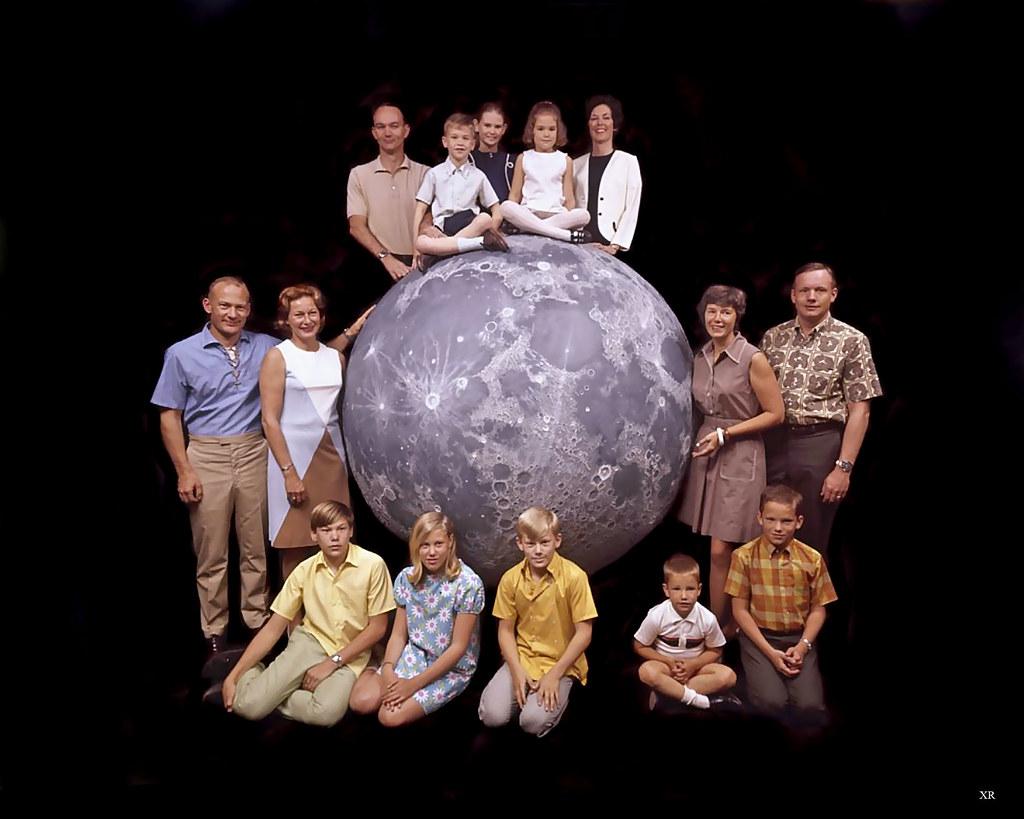 1969 apollo 11 astronauts with families ralph morse