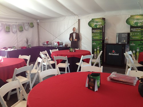 Inside the Heineken USA hospitality tent at the 2012 Memorial Tournament | by SuperiorBeverageGroup