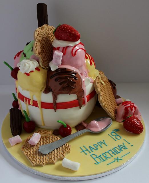 Ice Cream Sundae Birthday Cake!