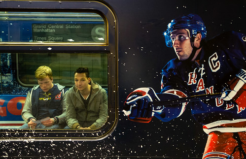 N.Y. Rangers-Themed NYC Subway Shuttle | by Paul Katcher