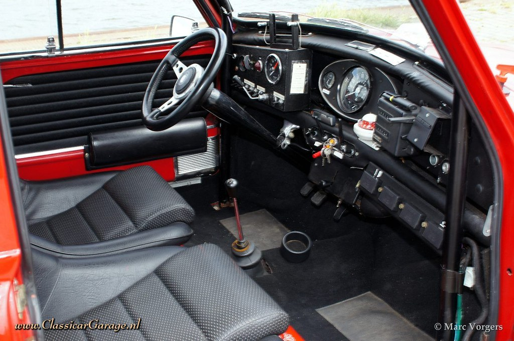 1966 austin mini cooper s mki rally car interior marc vorgers flickr. Black Bedroom Furniture Sets. Home Design Ideas
