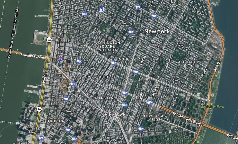 new york city new york - transit detail