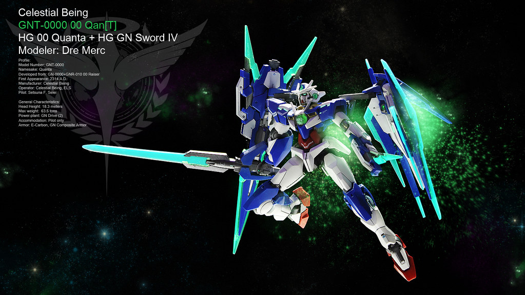 hg 00 quanta with gn sword iv full saber high grade 00