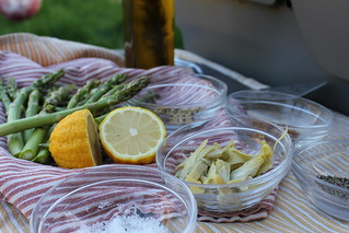 Grilled Asparagus and Artichoke hearts | by cooking-outdoors