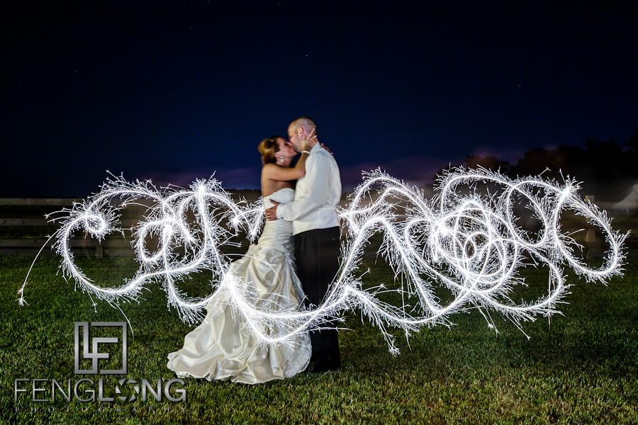 Light Painting Wedding Photography: Misty & Jonathan's Wedding