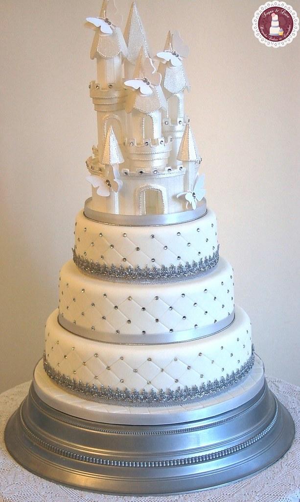 Silver Amp White Themed Fairy Tale Wedding Cake Fairy