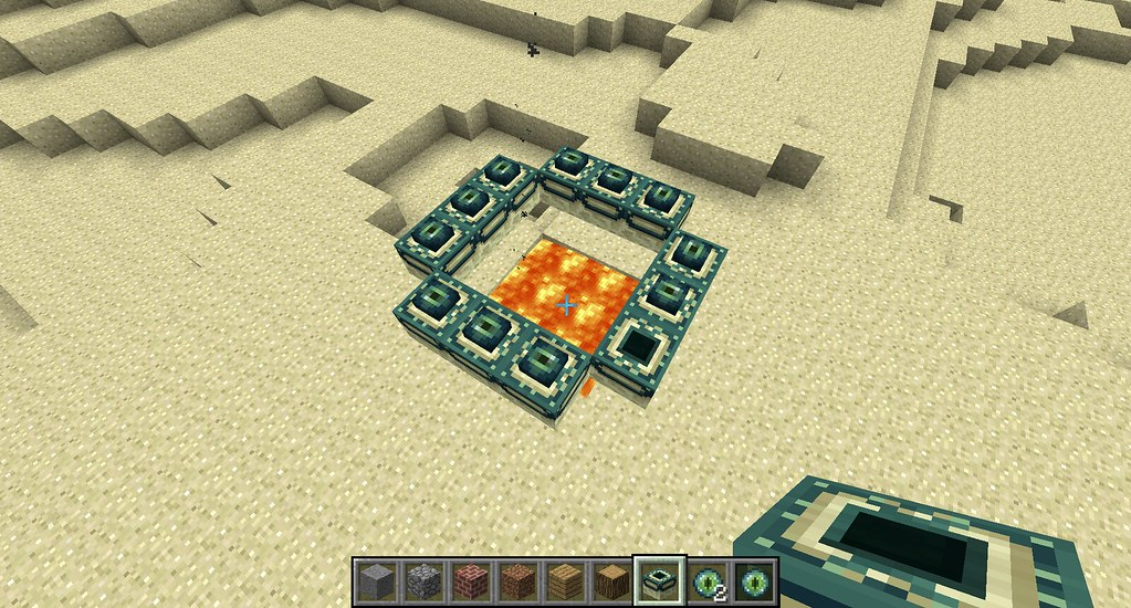 how to make a end portal in creative minecraft