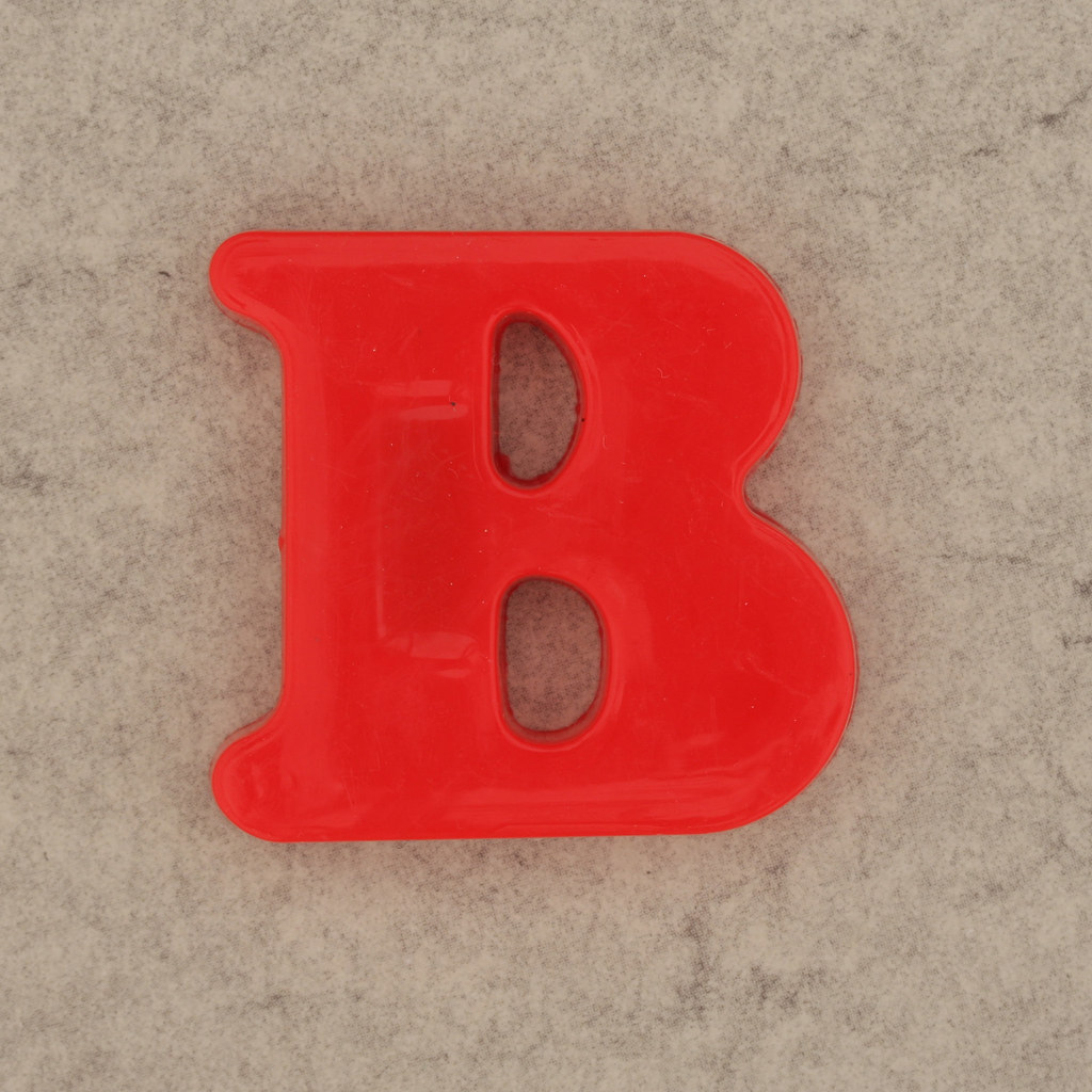 Magnetic letter b leo reynolds flickr for White magnetic letters and numbers