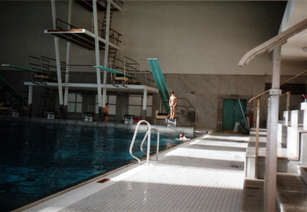 Brigade indoor pool olympic stadium berlin 1990s flickr - Indoor swimming pool berlin ...
