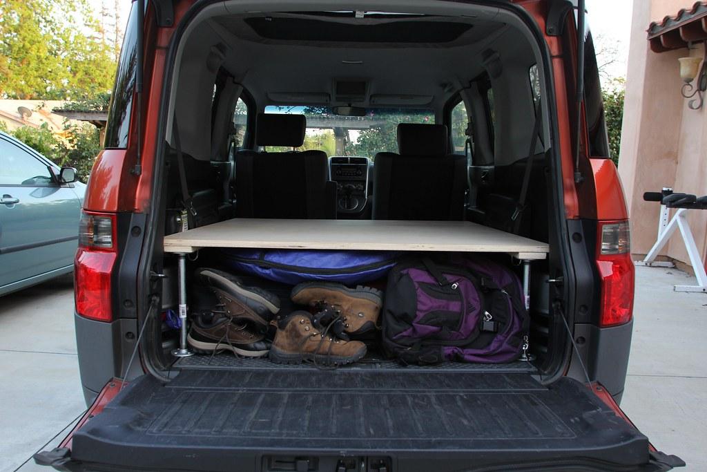 Bed platform plans - Honda Element Wooden Platform Bed Full Jshyun Flickr