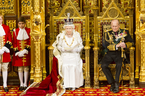 Her Majesty the Queen delivers the speech from the throne in the House of Lords – written by the government, setting out its agenda for the new session | by UK Parliament