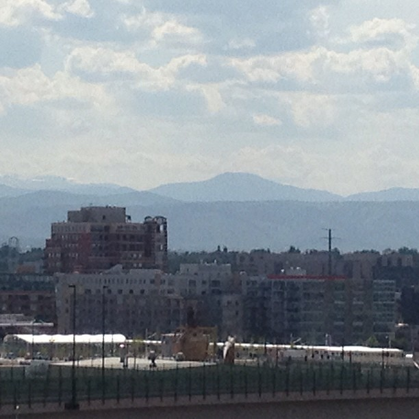 View Of The Rockies From The Rockies Game #denver