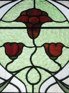 Detail of an Art Nouveau Stained Glass Lounge Window of Reid's Coffee Palace – Lydiard Street, Ballarat