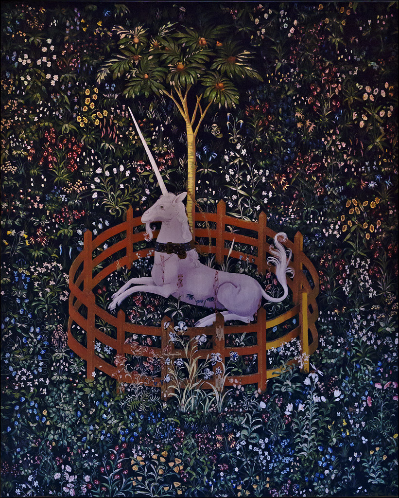 The Unicorn In Captivity Adorning The Walls Of The Queen
