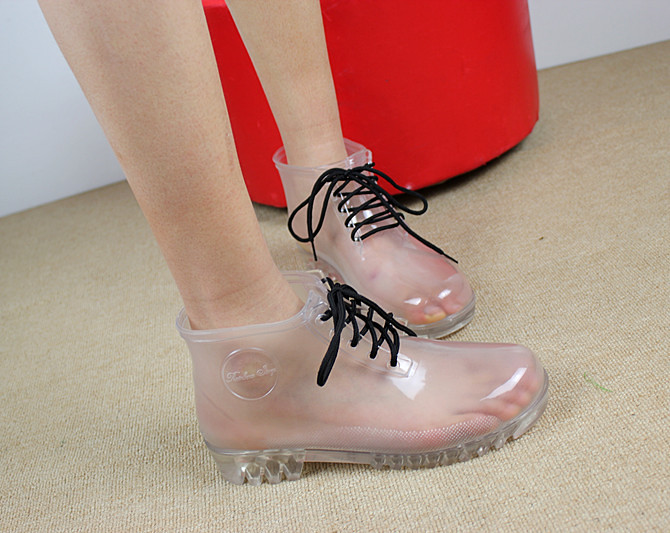 Clear Transparent Rain Boots Without Socks All Weather