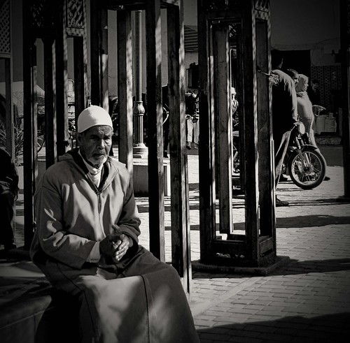 Old man resting in the evening sun, Marrakech | by georgia-l (Busy)
