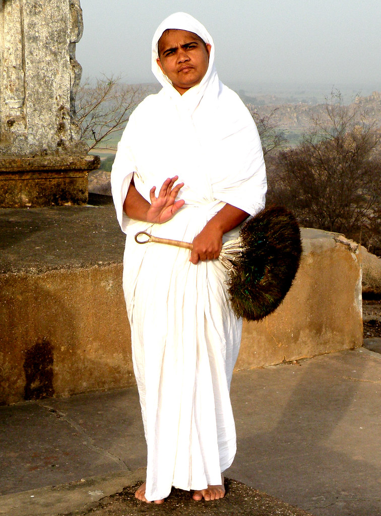 Digambara nun | A Jain Digambara nun in the Sonagiri ...