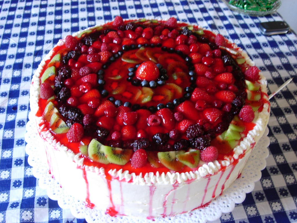 Cake With Fruit On Tip