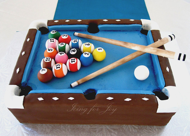 pool table cakes