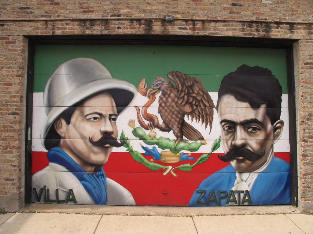 Mural pilsen chicago pancho villa emiliano zapata flickr for Emiliano zapata mural