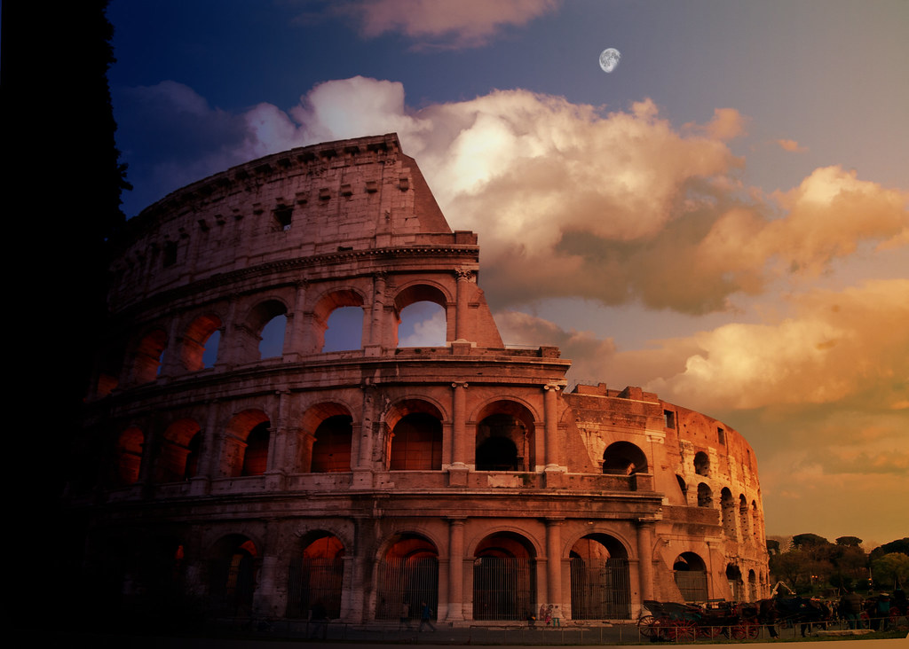 Colosseum Sunset Composite The Colosseum Around Sunset Sh Flickr