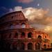 Colosseum sunset composite