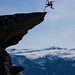 Human flag on Trolltunga