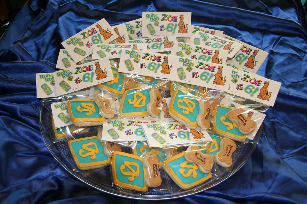 Scooby Snacks   Sugar cookies with fondant and royal icing ...