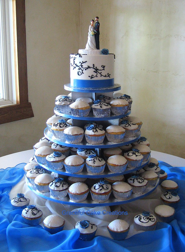 Cornflower Blue Wedding Cakes