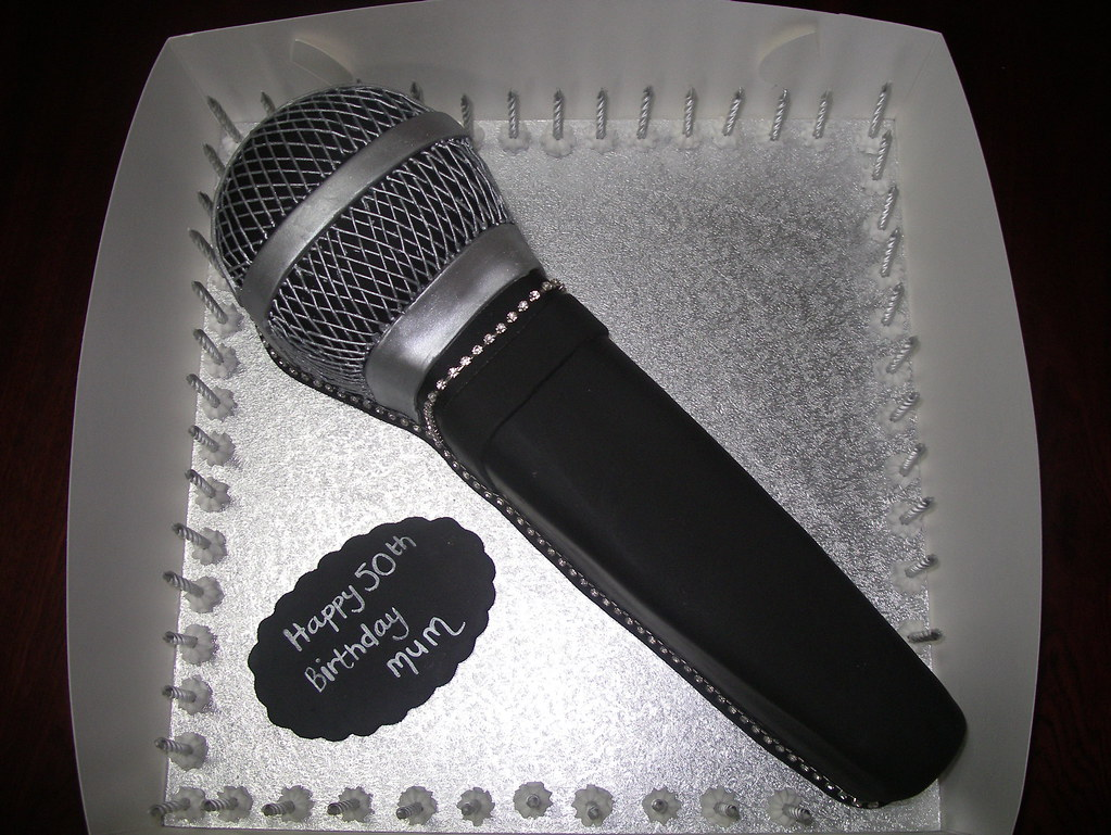 Images Of Microphone Cakes