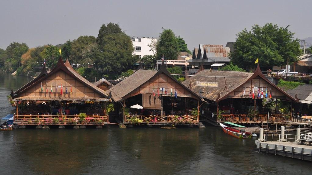 Pak Khwae Thailand  city pictures gallery : Floating Restaurant, Khwae Yai River, Kanchanaburi, Thaila… | Flickr