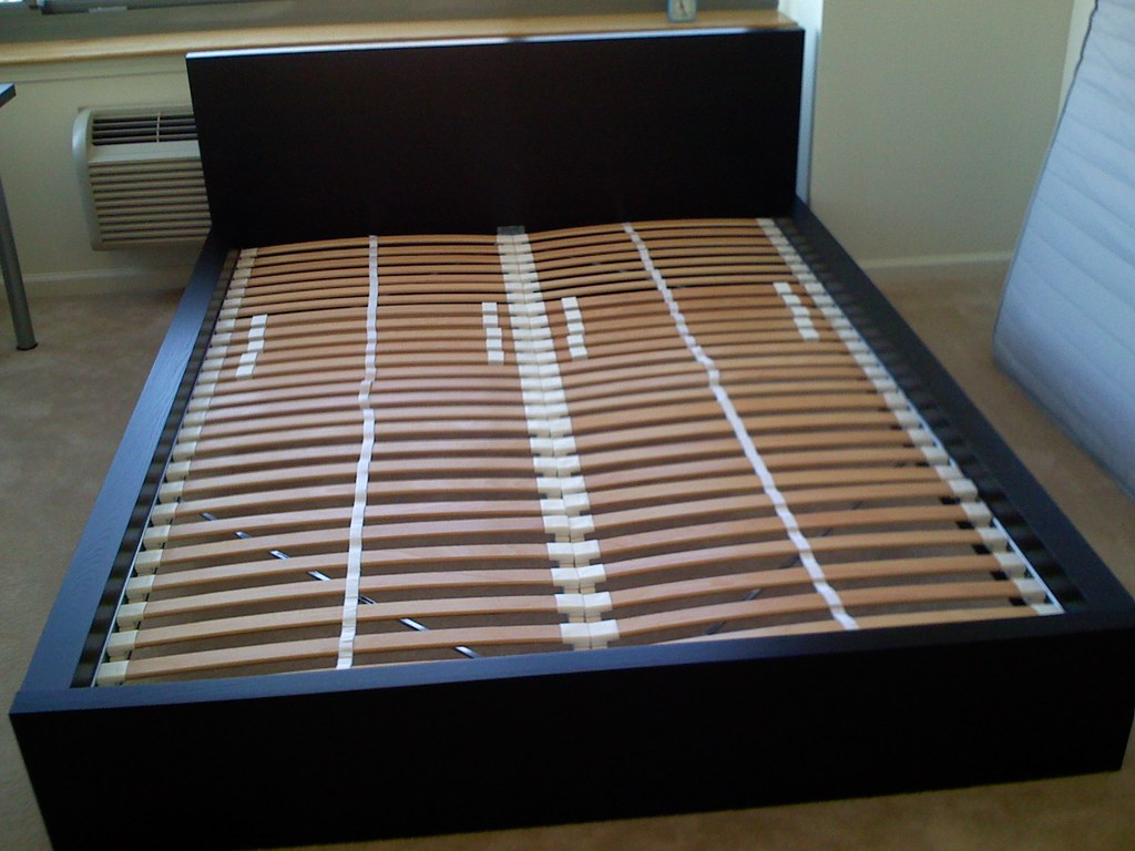 ikea malm bed with sultan laxbey slats ikea malm beds are flickr. Black Bedroom Furniture Sets. Home Design Ideas