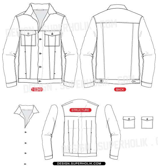 Jean Jacket Vest Mens