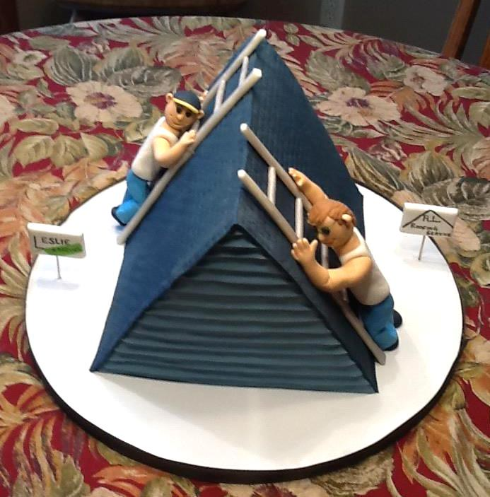 Two Roofers Cake A Cake For Two Brothers Born On The