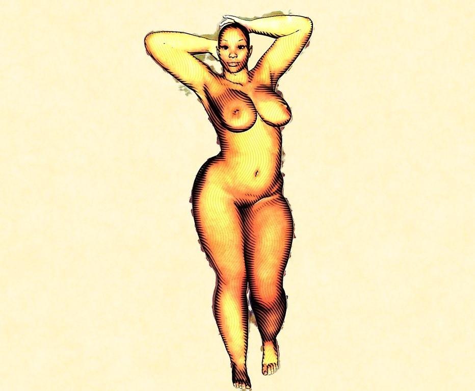 Nude brunettes voluptuous