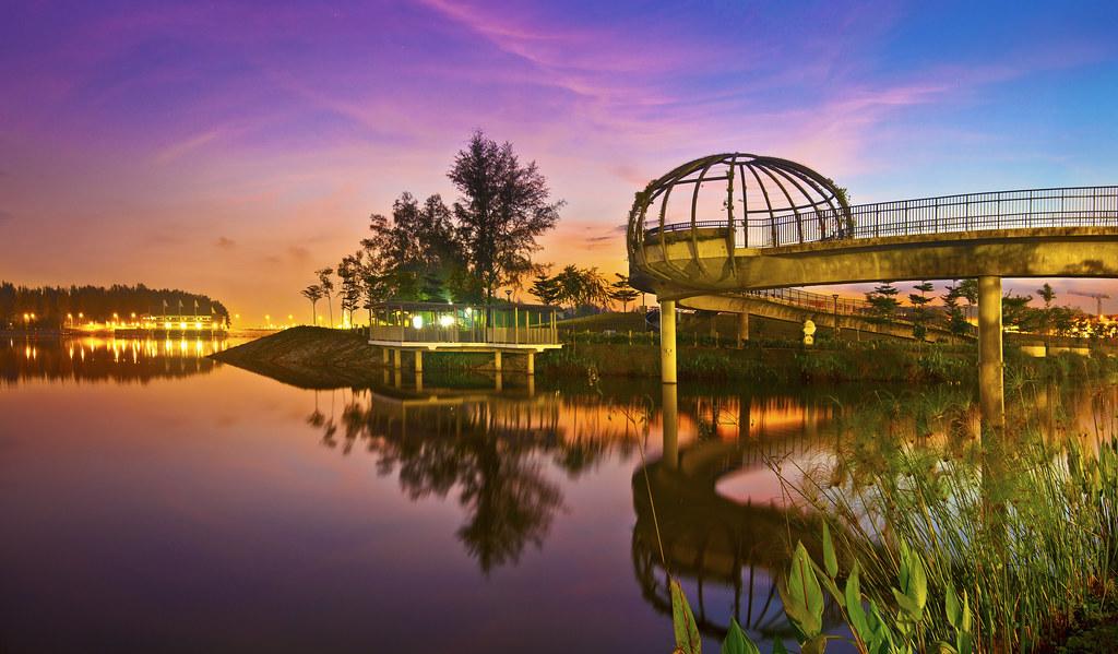 Singapore Punggol Park Singapore Punggol Jewel Bridge