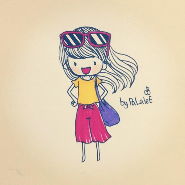 โอ๊ะ โอ้ว โอ๊ะ โอ้ว ว ว…10things-Jeab Wattana #girl #mood ...  Girl Cartoon Characters To Draw