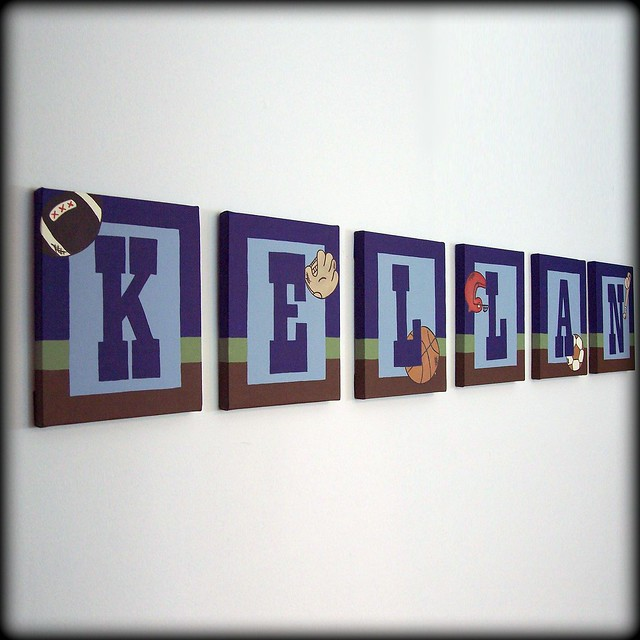 Vintage sports name wall art flickr photo sharing for Vintage basketball wall art