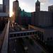 Overhead view of Downtown Minneapolis, MN