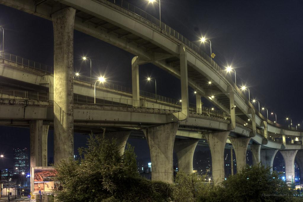 Portland Cement Architecture : Brutalist architecture in the portland night concrete