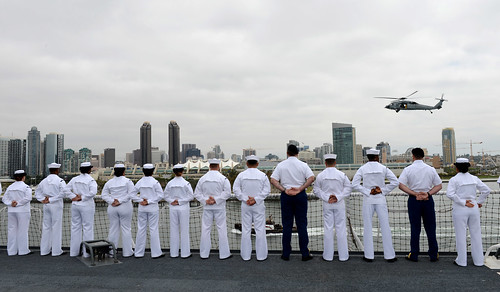 USNS Mercy (T-AH 19), a hospital ship operated by Military Sealift Command, departed San Diego May 11.