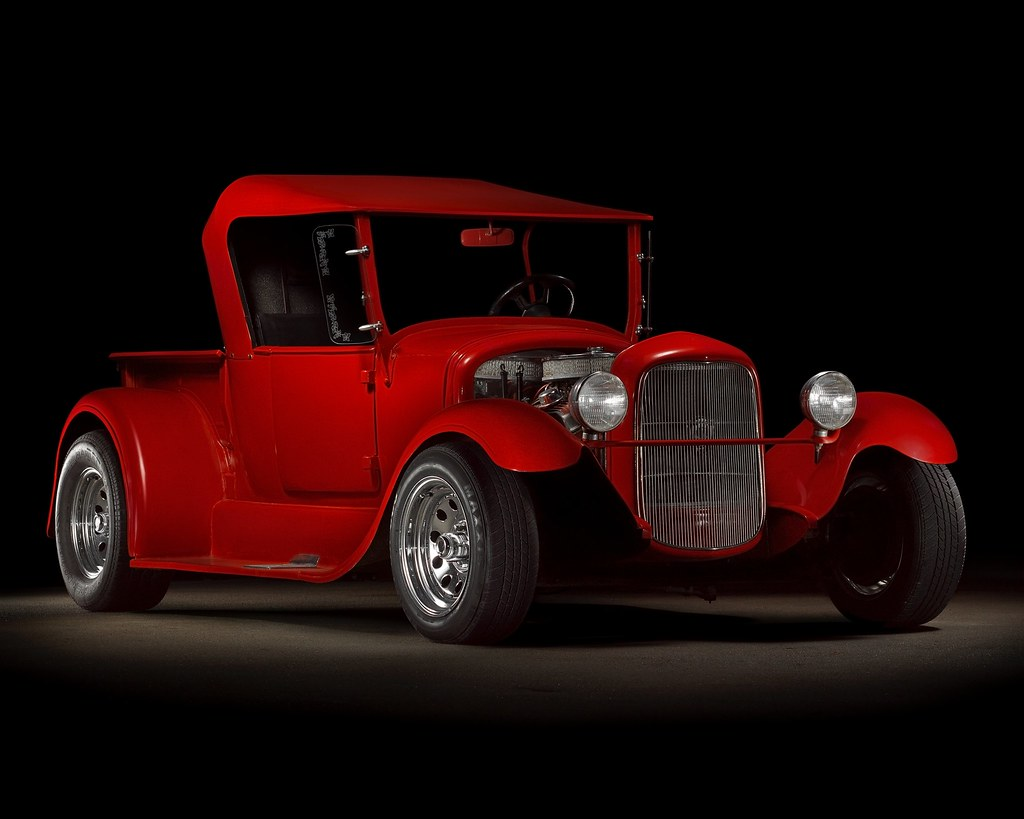 Red 1927 Ford Model T Pickup | I took this composite shot of… | Flickr
