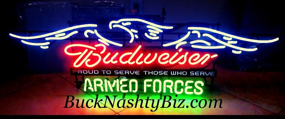 Neon Signs For Sale >> Budweiser Armed Forces Military 4' Neon Beer Sign Bar Ligh… | Flickr