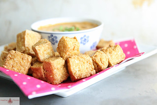 Crispy Tofu with Coconut Dipping Sauce | by Heather Christo
