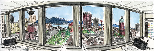 View from the Digital Graphic Design lab at Vancouver Community College | by Jeckenzibbel
