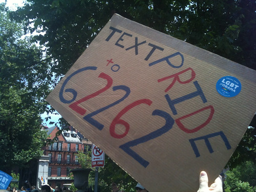 Text PRIDE to 62262 | by OFA_MA
