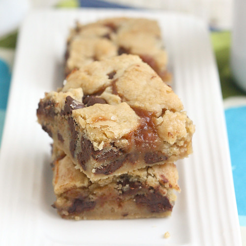 Salted Caramel Chocolate Chip Cookie Bars | by Tracey's Culinary Adventures