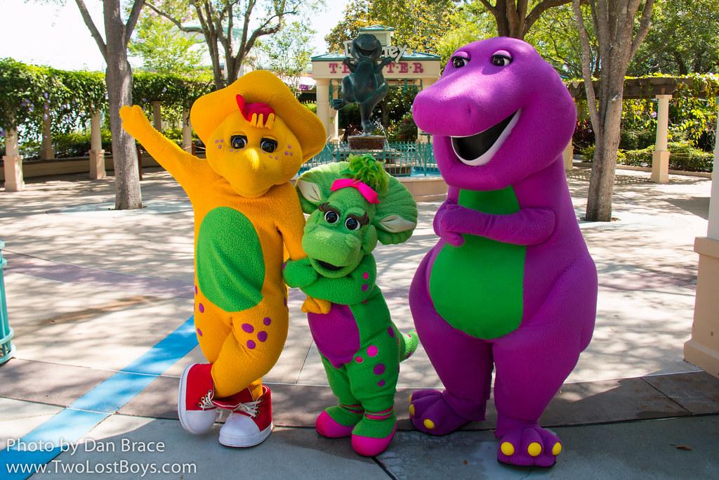 Meeting Barney BJ and Baby Bop  Universal Orlando Resort   Flickr