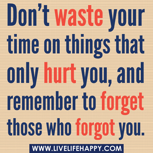 Dont Waste Time Quotes: Don't Waste Your Time On Things That Only Hurt You, And Re