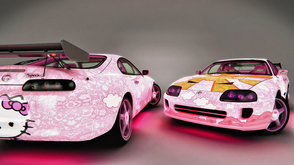 Toyota 1998 Supra Rz Hello Kitty 3dmodel 3dmax Cars